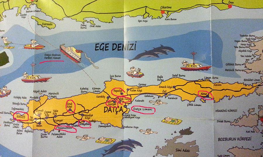 Datça haritası