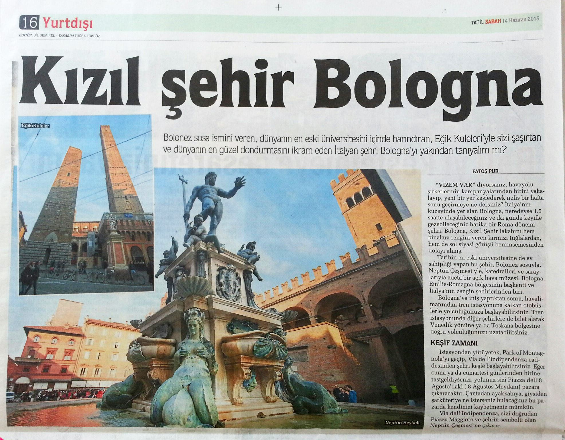 Kızıl-Sehir-Bologna