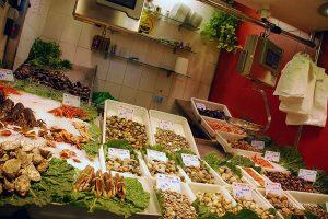 Barseloana yiyecek pazarı