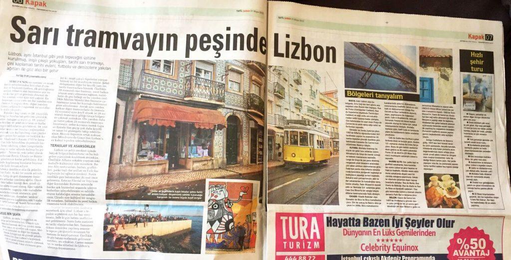 Sarı tarmvayın peşinde Lizbon Sabah Tatil eki