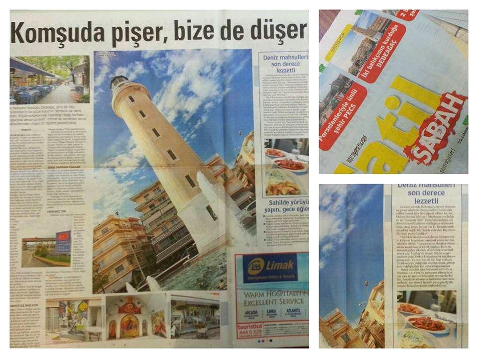 Sabah Gazetesi Fatoş Pur Dedeağaç