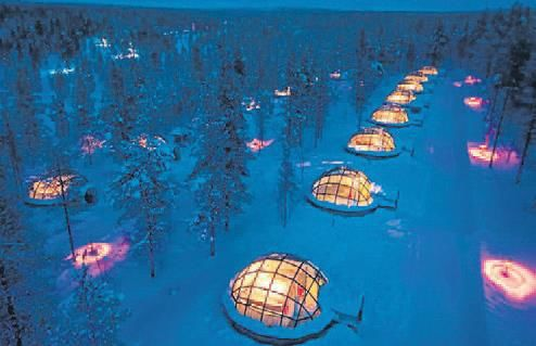 kuzey-isiklari-finlandiya-iglo